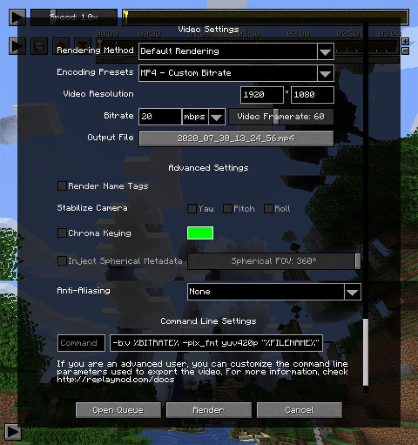 Minecraft Replay Mod - Documentation